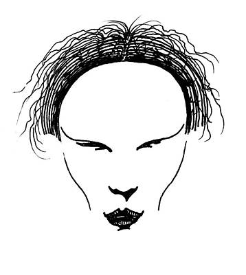 Art Print featuring the drawing Visage by Keith A Link