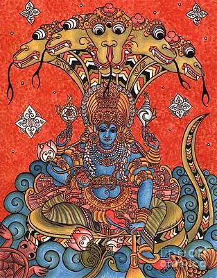 Wall Art - Painting - Vishnu by Susanna Fields-Kuehl