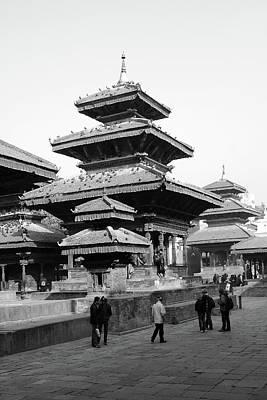Photograph - Vishnu Temple, Durbar Square, Kathmandu, Nepal by Aidan Moran