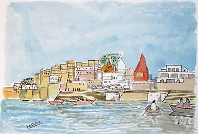 Painting - Vishweshwar Jyotirling by Keshava Shukla