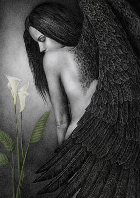 Angel Painting - Visible Darkness by Pat Erickson