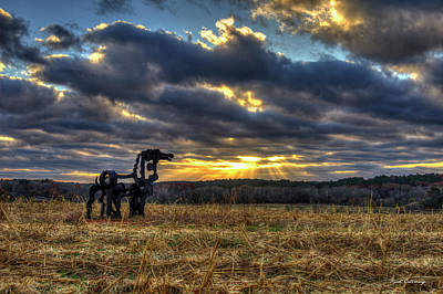 Photograph - Visible Light The Iron Horse Sunrise Art by Reid Callaway