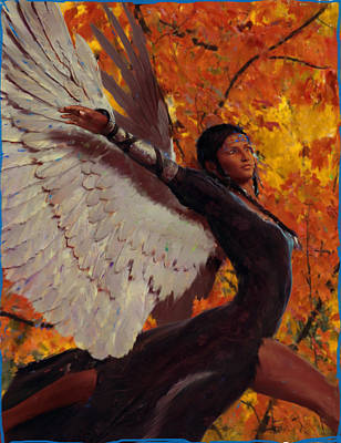 Angel Painting - Vision 2 by Suzanne Silvir