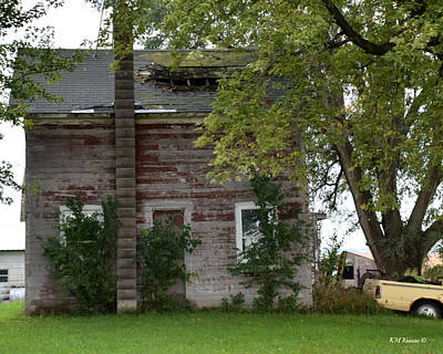 Warn In Photograph - Vision Of Abandon Country Home II by Kathy M Krause