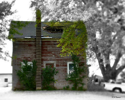 Photograph - Vision Of Abandon Country Home by Kathy M Krause