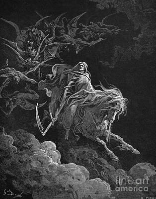 Vision Of Death Print by Granger