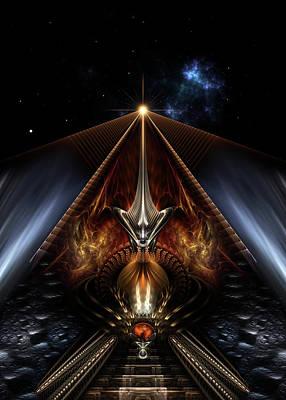 Digital Art - Vision Of Dragons Fire by Xzendor7