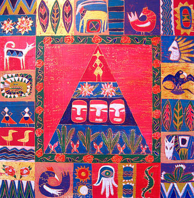 Vision Of Mexico Art Print by Aliza Souleyeva-Alexander