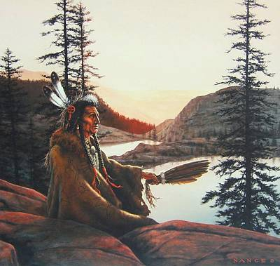American Indian History Painting - Vision Quest by Dan  Nance