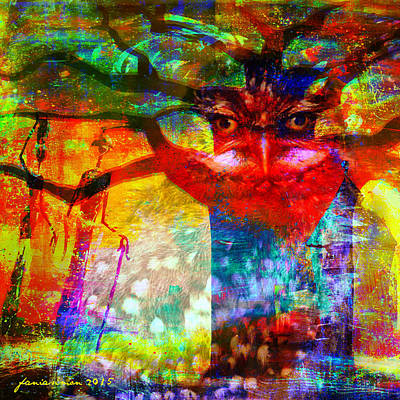 Mixed Media - Vision The Tree Of Life by Fania Simon
