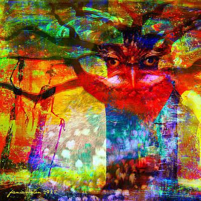 Mixed Media - Vision The Tree Of Life by Fania Simon