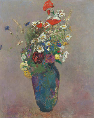 Flowers In Vase Painting - Vision Vase Of Flowers  by Odilon Redon