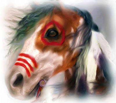 Digital Art - Visionary War Horse by Barbara A Lane