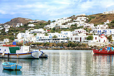 Photograph - Visions At The Old Port Of Mykonos City by John Rizzuto