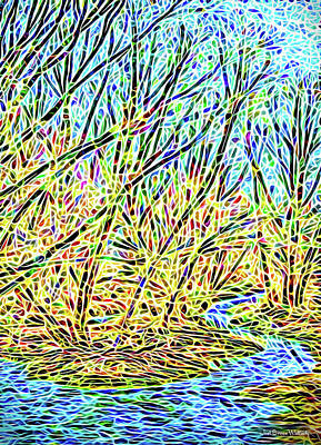 Digital Art - Visions In The Stream by Joel Bruce Wallach