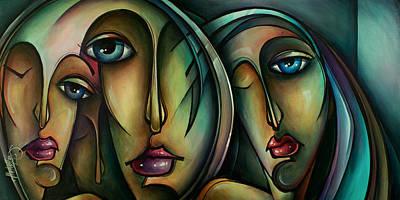 Moody Painting - Visions by Michael Lang