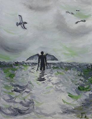 Wall Art - Painting - Visions Of Angels by Tessa Lang