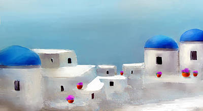 Visions Of Greece Art Print