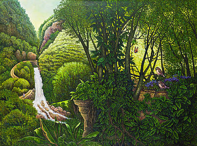Painting - Visions Of Paradise Vi by Michael Frank