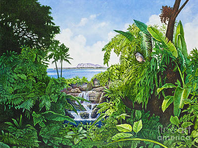 Painting - Visions Of Paradise Ix by Michael Frank
