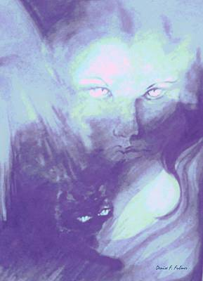 Art Print featuring the painting Visions Of The Night by Denise Fulmer