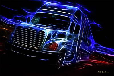 Digital Art - Visions Of Trucking 1 by Walter Herrit