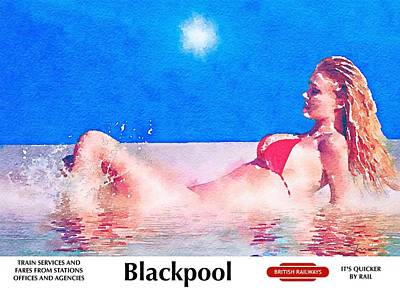 Painting - Visit Blackpool by Mark Taylor