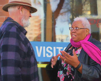 Photograph - Visit - Conversation by Nikolyn McDonald