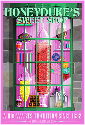 Visit Honeydukes Sweet Shop Original by Christopher Ables