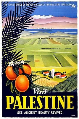 Mixed Media - Visit Palestine, Jerusalem - See Ancient Beauty Revived - Retro Travel Poster - Vintage Poster by Studio Grafiikka