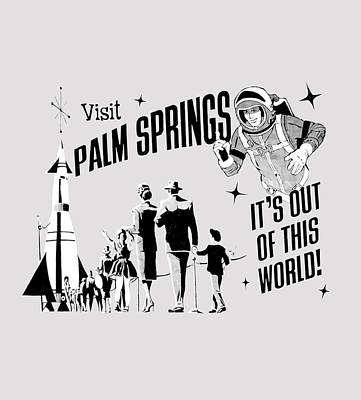 Visit Palm Springs Grey Original by Neo