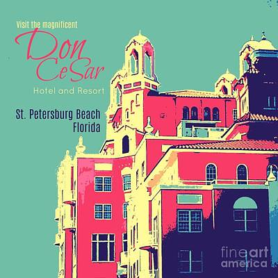 Digital Art - Visit The Don Cesar by Valerie Reeves