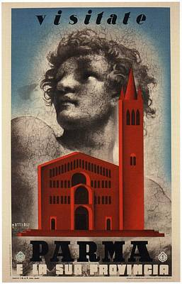Mixed Media - Visitate Parma - E La Sua Provincia - Italy - Retro Travel Poster - Vintage Poster by Studio Grafiikka
