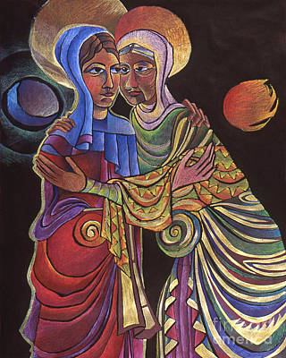 Painting - Visitation Sun And Moon by Br Mickey McGrath OSFS