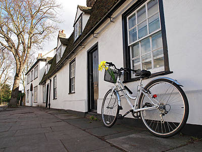 Photograph - Visiting Friends - Bicycles In Cambridge by Gill Billington