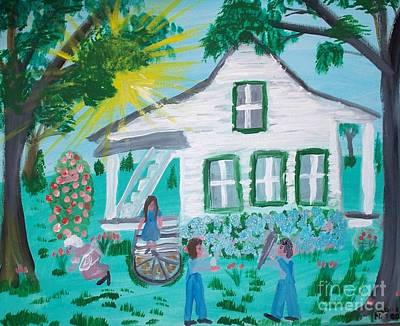 Acadian Painting - Visiting Grandma by Seaux-N-Seau Soileau
