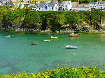 Bay Photograph - Visiting Port Isaac by Connie Handscomb