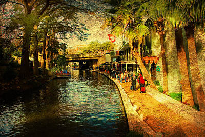 Visiting San Antonio Art Print by Iris Greenwell