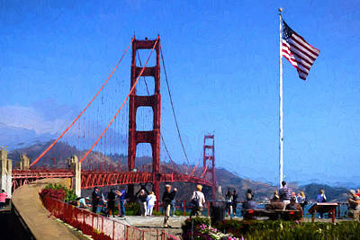 Photograph - Visiting The Golden Gate by Greg Norrell