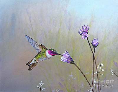 Painting - Visiting The Purple Garden by Joe Mandrick
