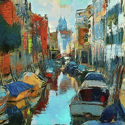 Digital Art - visiting Venice 1 by Yury Malkov
