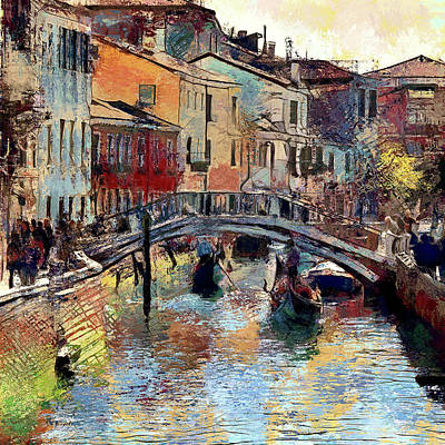 Digital Art - visiting Venice 2 by Yury Malkov