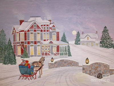Painting - Visitors - Christmas Eve by Patti Lennox