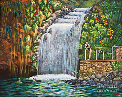 Painting - Visitors To The Falls by Laura Forde