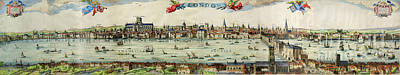 Photograph - Visscher Print Of London And The River Thames by Rod Jones