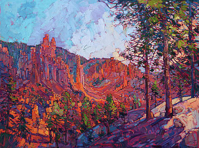 Painting - Vista At Bryce by Erin Hanson