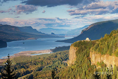 Photograph - Vista House Evening by Brian Jannsen