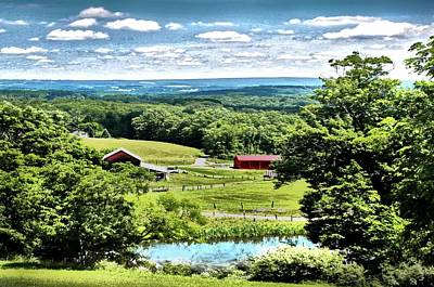 Preston Farm Photograph - Vista In Preston County by Michael Forte
