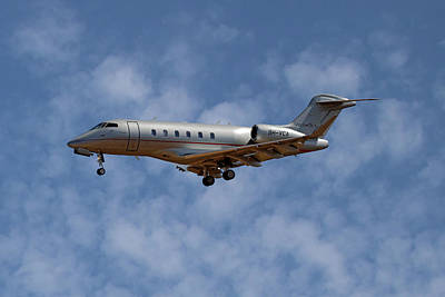 Jet Photograph - Vista Jet Bombardier Challenger 300 1 by Smart Aviation