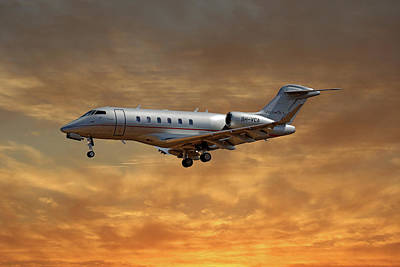 Jet Photograph - Vista Jet Bombardier Challenger 300 2 by Smart Aviation